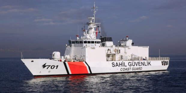 Турция направила кроссийским границам в Крыму военный корабль «Sahil Güvenlik»