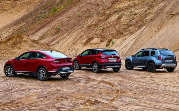 Renault Arkana, Duster, Kaptur: тест-драйв в цифрах