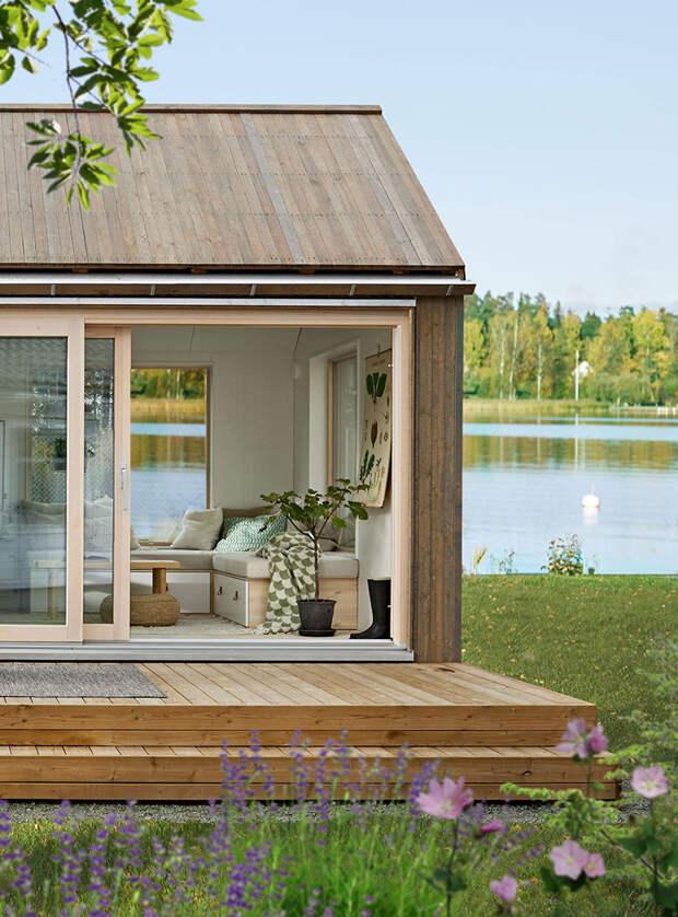 Милый домик у озера площадью всего 25 кв. м