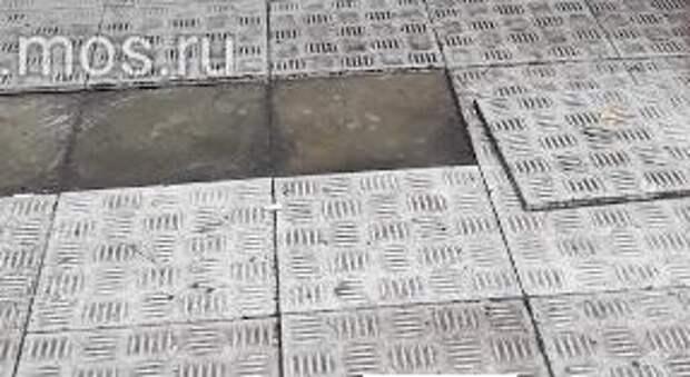 В Ташкентском переулке плитка перестала ходить ходуном