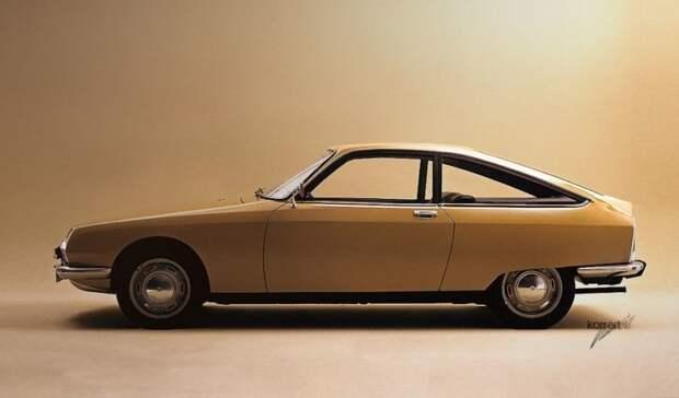 Посмотрите на чистейшие линии этого спортивного купе GS Concorde Coupe par Chapron образца 1971 года. авто, автодизайн, автомобили, дизайн, фотомонтаж, фотошоп, юмор, янгтаймер