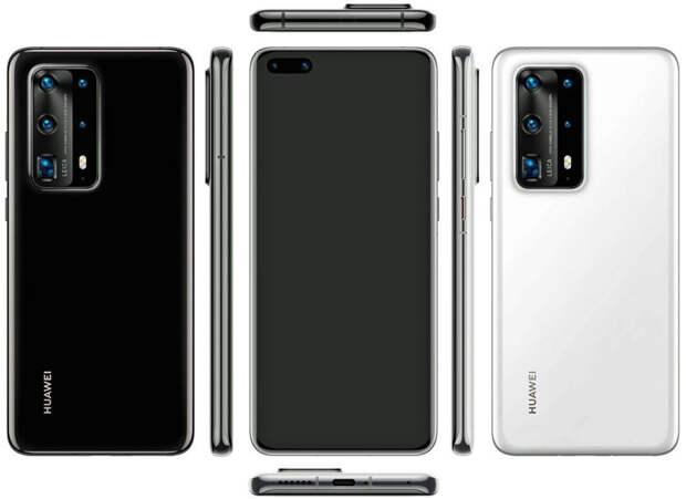 Huawei P40 Pro PE с семью камерами появился на рендерах