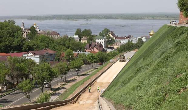 Подрядчик оценил готовность реконструкции Кремлевского бульвара вНижнем Новгороде