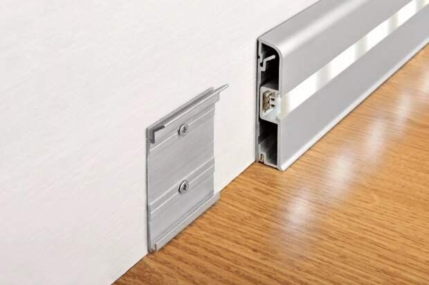 Алюминиевый плинтус - преимущества и сферы применения