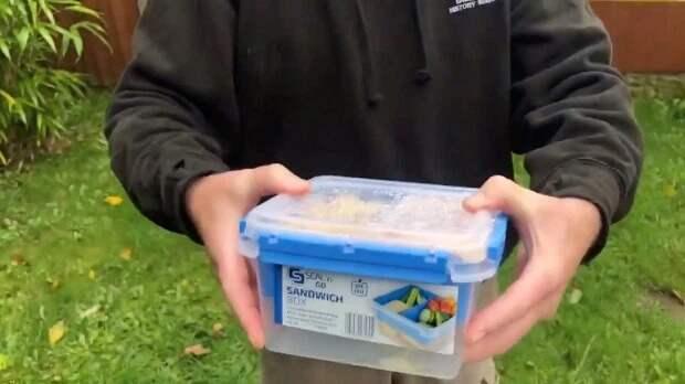 Пранкер съел заплесневелый бургер и картошку фри из «Макдоналдса», которые на год закопал в землю