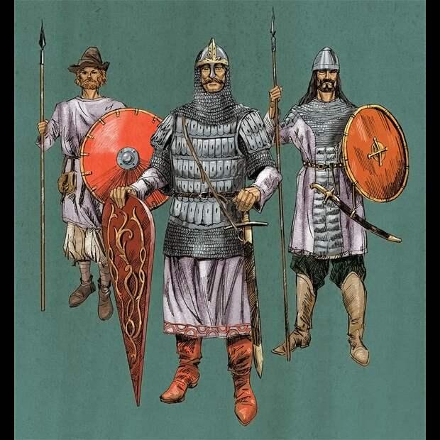 Ополченец, княжеский дружинник, федерат-кочевник (Иллюстрация из открытых источников)