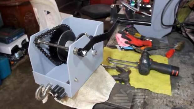 Как изготовить ручную шестерённую таль для мастерской