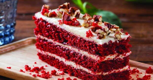 «Красный бархат» - яркий, вкусный праздничный десерт