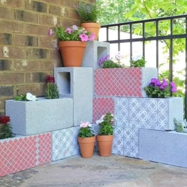 Лучшие идеи дизайна сада из шлакоблоков на дачном участке