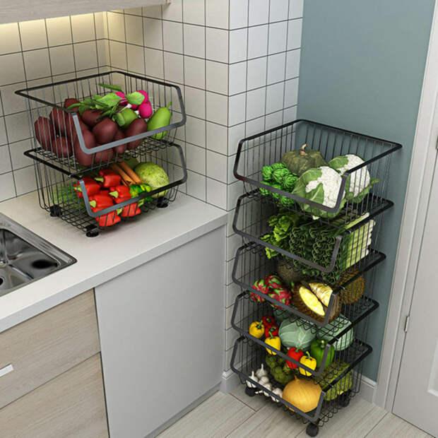 10+ бесподобных органайзеров для фруктов и овощей, которые можно сделать своими руками
