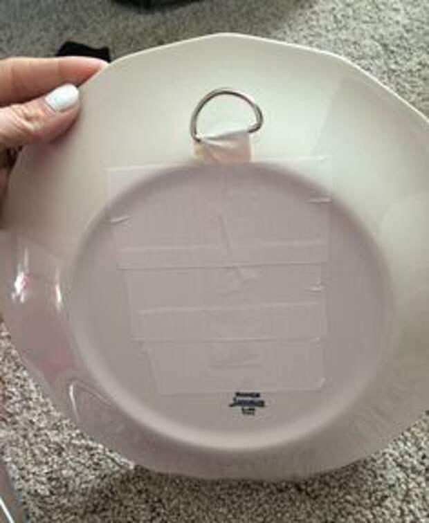 как тарелку подвесить