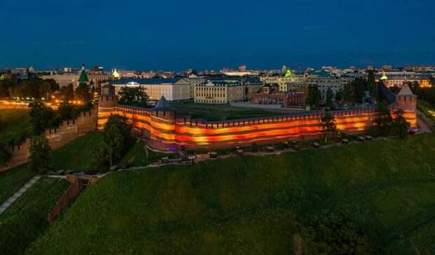 Масштабная проекция Георгиевской ленточки украсит стены Нижегородского кремля 9мая