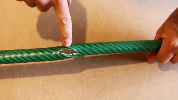 Как починить поврежденный садовый шланг