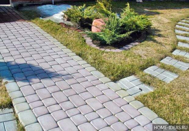 фото тротуарной дорожки для дачи