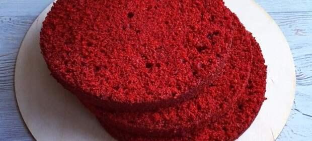 бисквит красный бархат рецепт