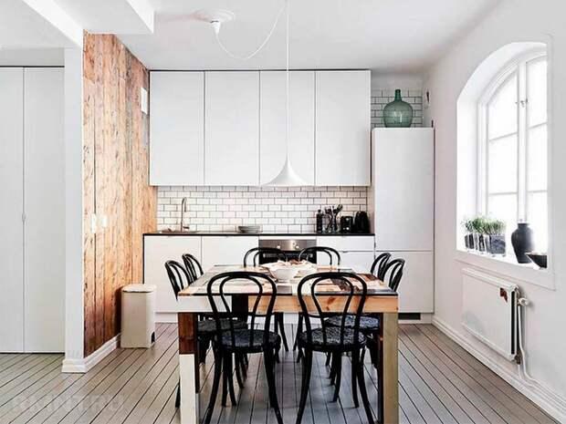 Фотоподборка и особенности кухонь в скандинавском стиле
