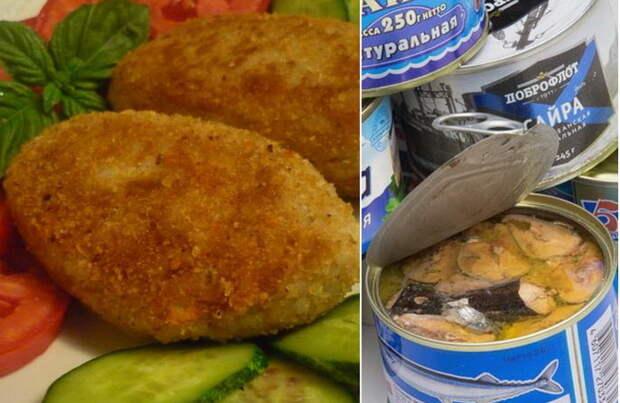 Вкуснейшие котлеты из рыбных консервов - бюджетное и простое блюдо.
