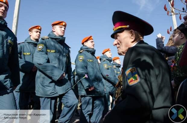 В Донбассе провели Парад Победы для 97-летнего участника Сталинградской битвы