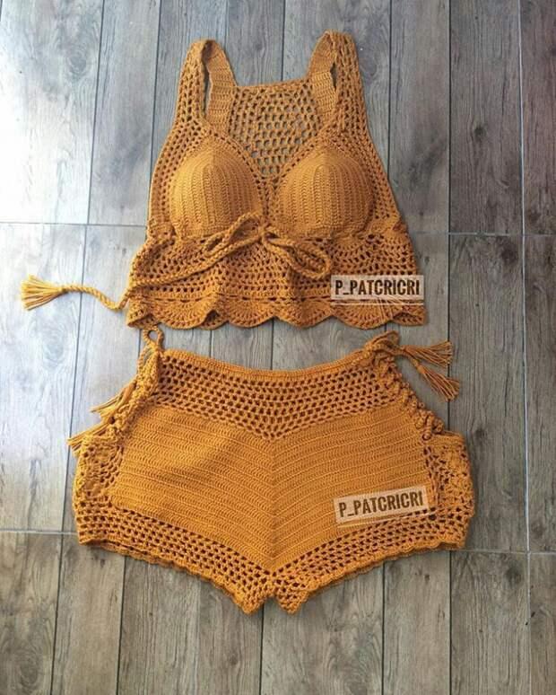 Пляжная одежда вязаная крючком (трафик)