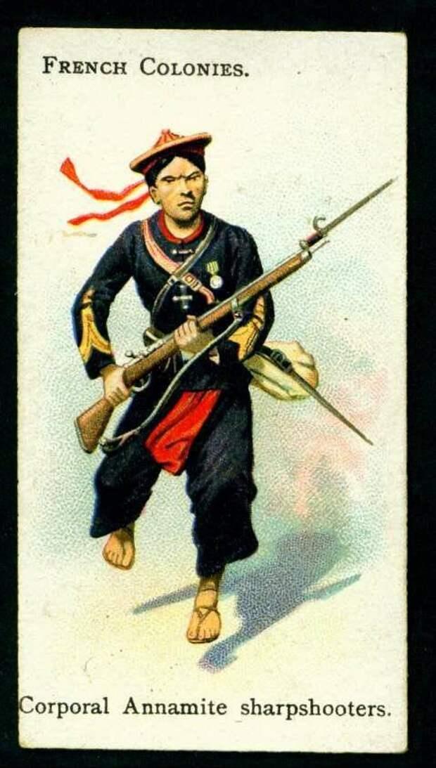 Экзотические военные части Франции. Тиральеры