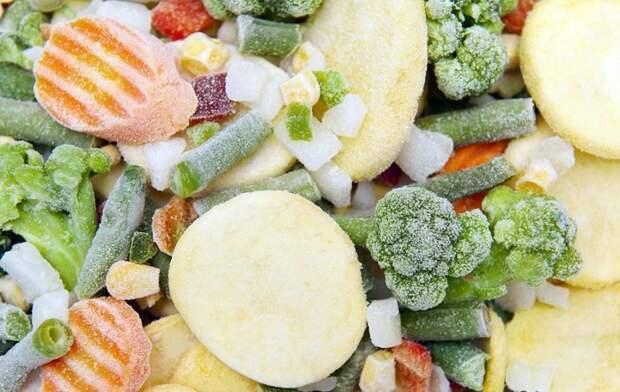 Замороженные овощи - практично и вкусно.