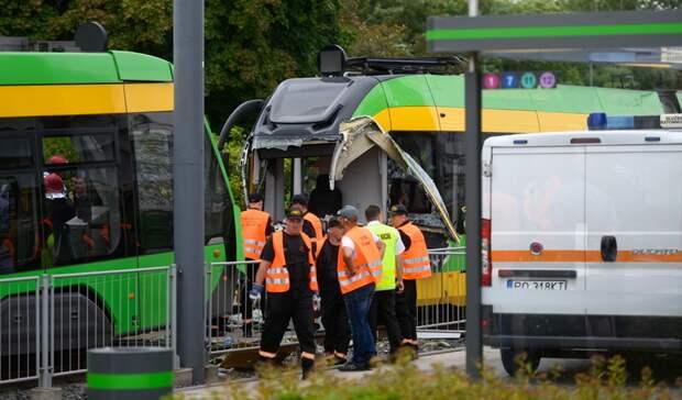 Более 30 человек пострадали в Польше при столкновении трамваев