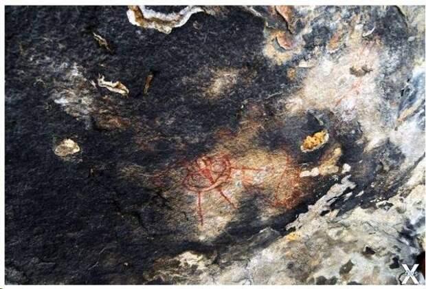 10000-летние наскальные рисунки с изображением инопланетян в Индийском штате Чхаттисгарх