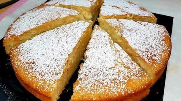 Очень простой, но вкусный яблочный пирог