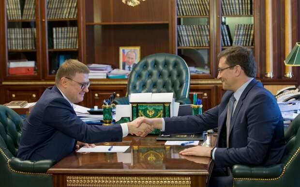 Глеб Никитин иАлексей Текслер провели рабочую встречу вЧелябинске