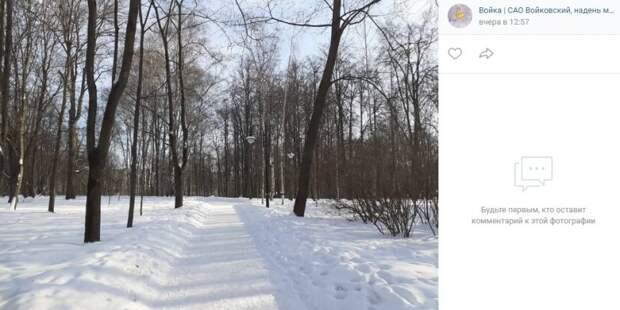 Фото дня: зимняя прогулка в парке имени Воровского