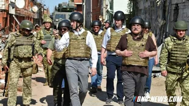 Американская делегация посетила зону украинской ООС в Донбассе