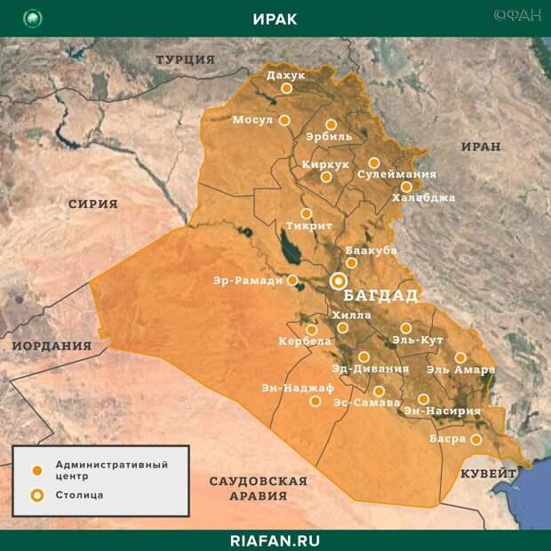 Карта военных действий — Ирак