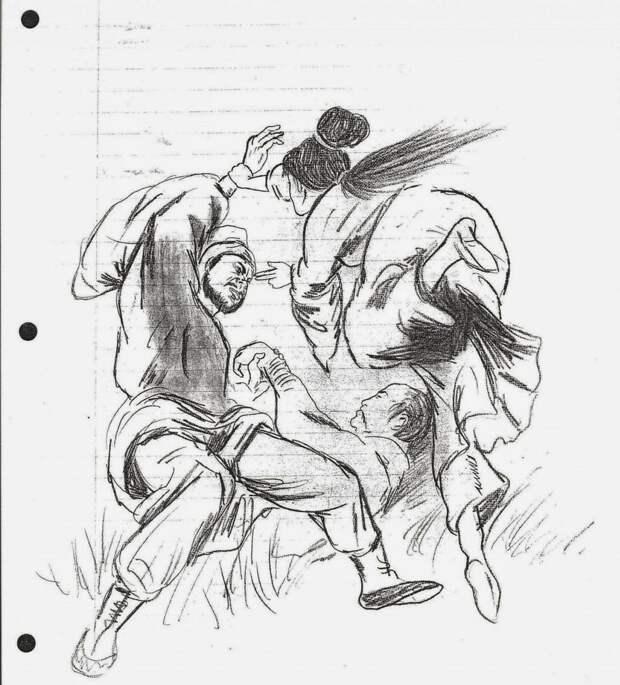 Дракон виляет карандашом: рисунки Брюса Ли
