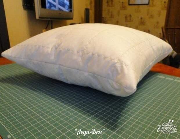 Идеальная подушка своими руками 8