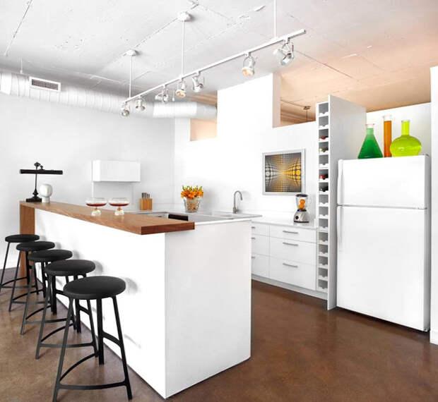 Советы дизайнеров. Барная стойка в интерьере кухни