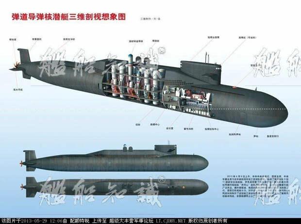 """""""Акула"""" была самой большой подлодкой в мире. Теперь самая большая - """"Сунь Цзы"""" из Китая"""