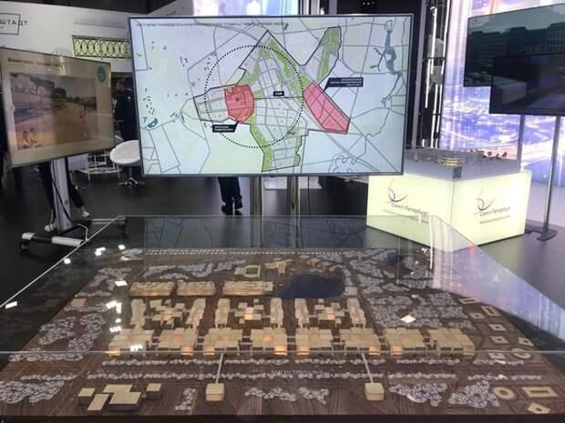 Смольный представил на ПМЭФ инвестпроекты нового кампуса СПбГУ, острова фортов в Кронштадте и трамвайной линии