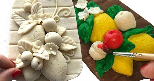 Декоративное панно для кухни из материалов, которые у вас уже есть
