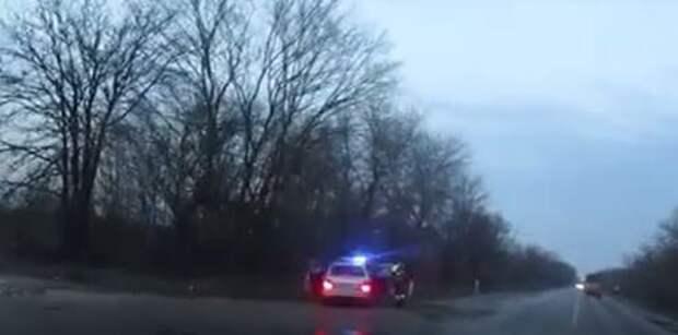 В Красногвардейском районе нетрезвый водитель пытался уйти от погони