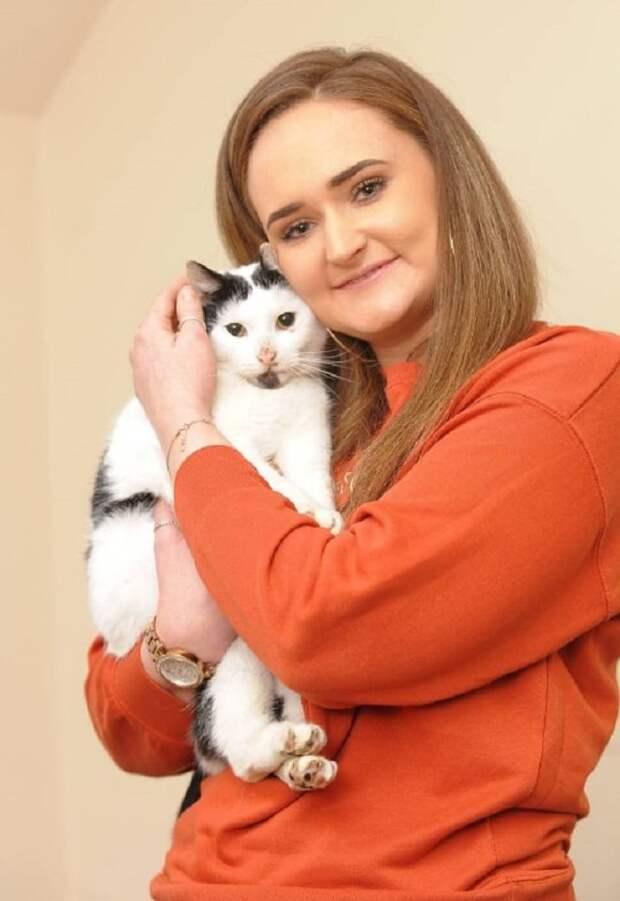 Хозяйка с котом