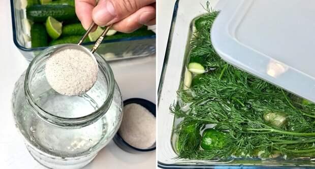 как приготовить малосольные огурцы на минералке