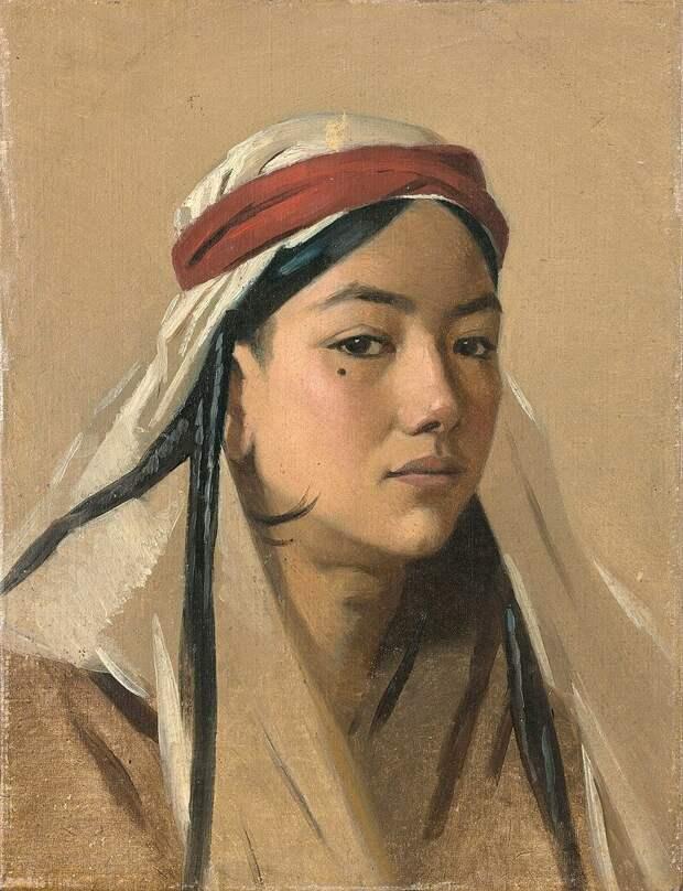 """В.В. Верещагин """"Портрет батчи"""",  1867—1868."""