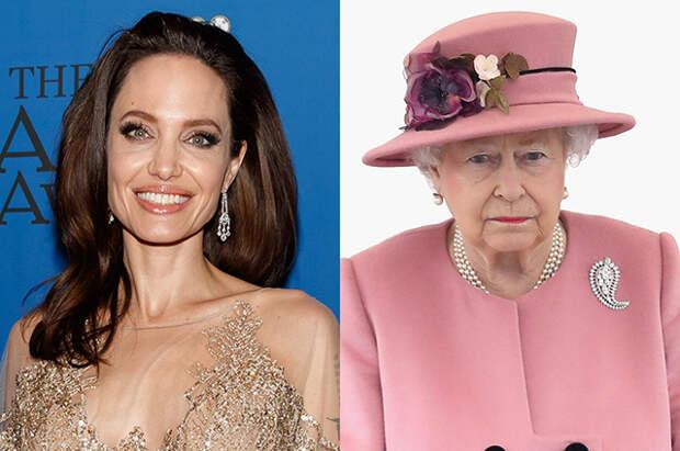 Анджелина Джоли и британская королева обсудили вопросы сохранения окружающей среды