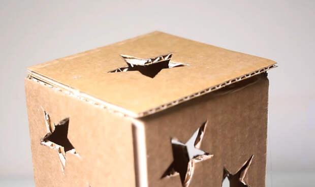Необычное использования картона для создания сказочной и уютной атмосферы