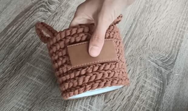 Красивая корзина без вязания и плетения. Проще не бывает