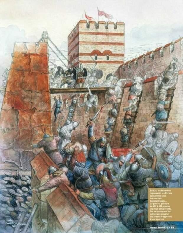 Осада славянами и аварами римского города (Иллюстрация из открытых источников)