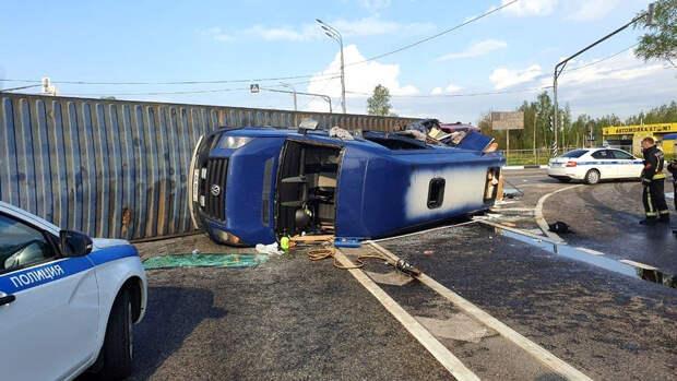 В аварии под Смоленском пострадали 13 белорусских граждан