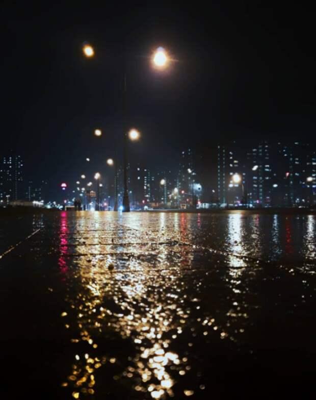 Фото дня: ночь, улица, фонарь, Некрасовка…