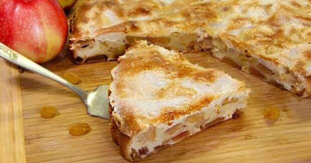 Простой, но САМЫЙ ВКУСНЫЙ рецепт пирога из яблок на сметане