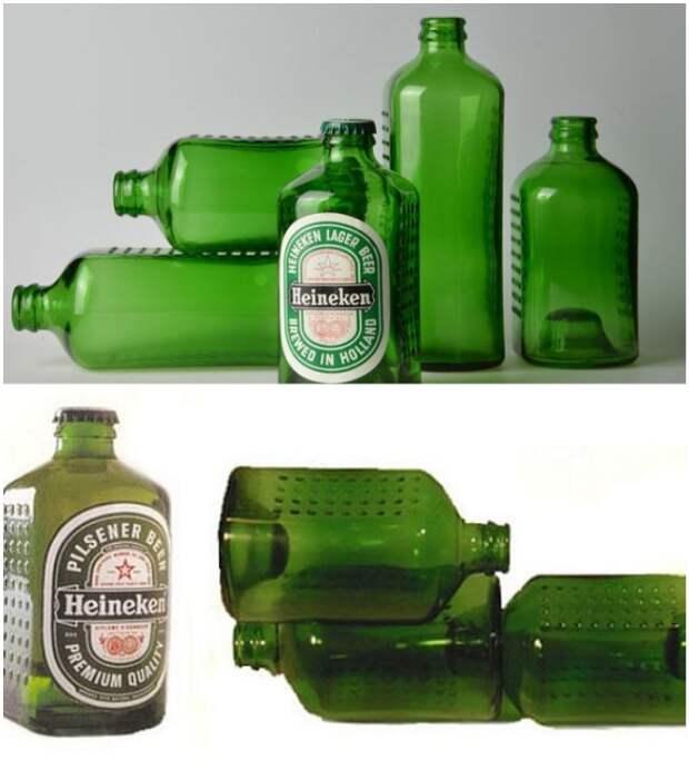 Пивная бутылка от Heineken, как основной материал для строительства домов (World Bottle).